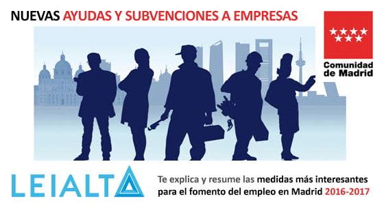 Información sobre ayudas y subvenciones para empresas resumida por Leialta