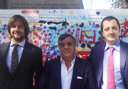 Arte urbano para integrar la discapacidad en la empresa: pintando un lienzo de 25 metros en Madrid.