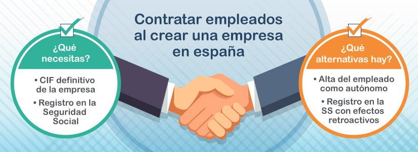 Cómo contratar empleados al crear una empresa en España