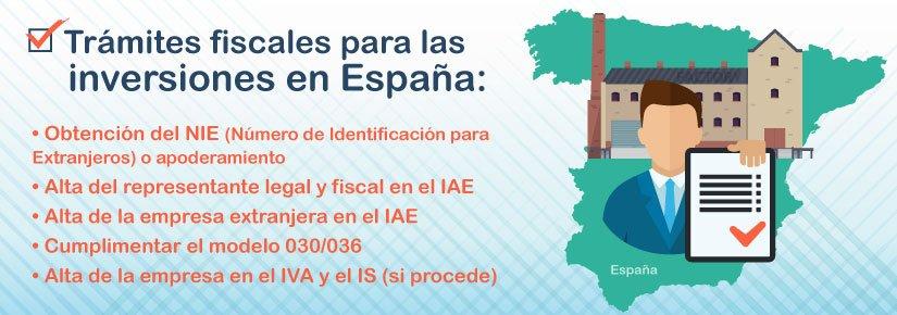 ¿Cuáles son los trámites fiscales para las inversiones en España?