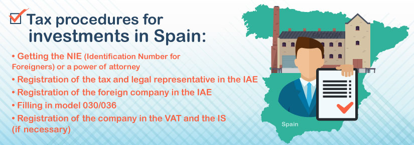 Which are the main tax procedures for investments in Spain?