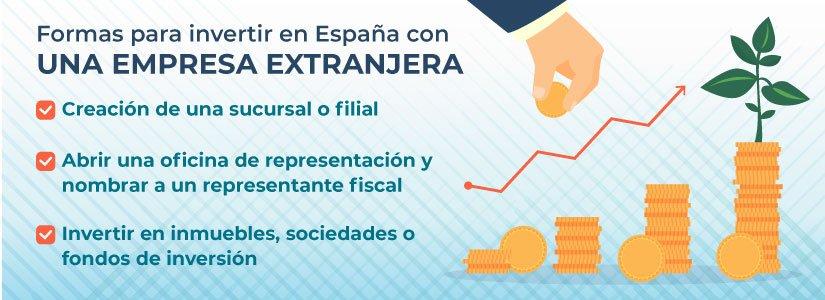 Te contamos varias formas para invertir en España con una empresa extranjera