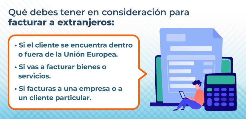 Cómo facturar a un cliente extranjero fuera de la unión europea