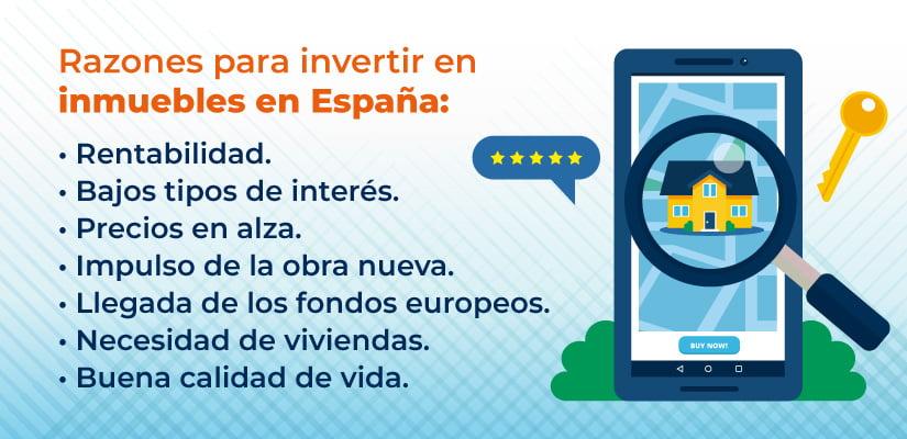 Razones para invertir en inmuebles en España
