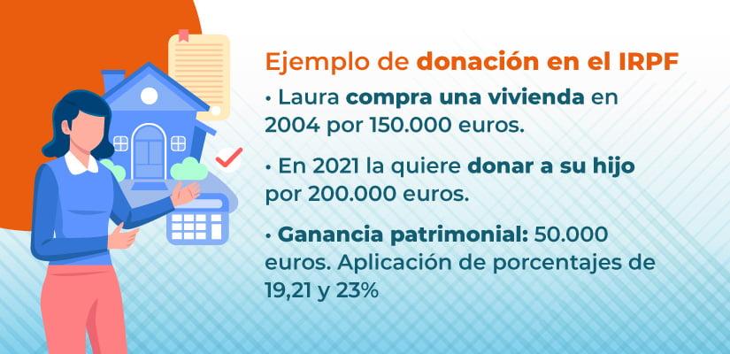 Cómo tributan en el irpf las donaciones de inmuebles